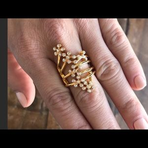 Wisteria Ring with Swarovski Crystals